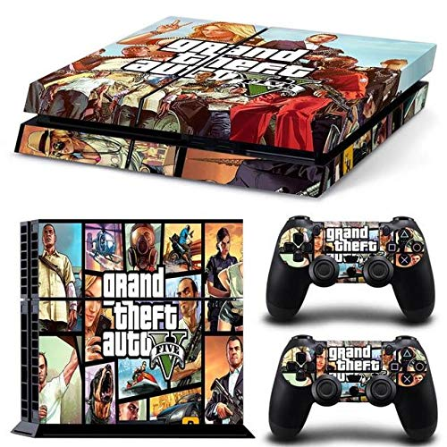 Homie Store PS4 Pro Skin - Ps4 Skins - Ps4 Slim Sticker - Grand Theft Auto 5 GTA 5 for PS4 Console Vinyl Skin Sticker Controle for Playstation Cover Skin 4 + 2 Controllers Gamepad Decal