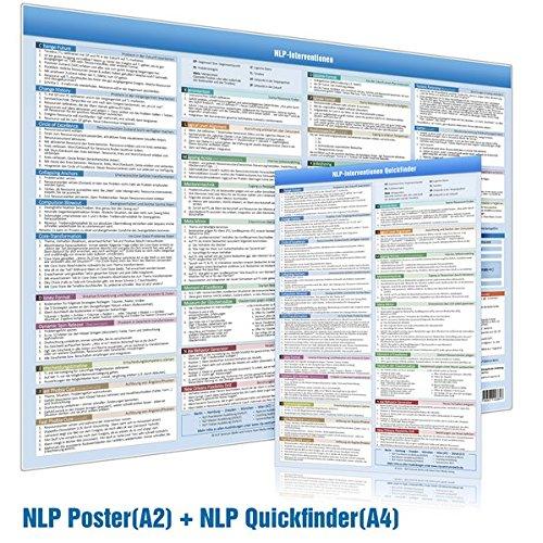[2er-Set] NLP INTERVENTIONEN QUICKFINDER (DINA4) & NLP INTERVENTIONEN POSTER (DINA2) (2020): - Praktische Schnellübersicht und Wandposter für den Coach, NLP Practitioner, NLP Master und NLP Trainer