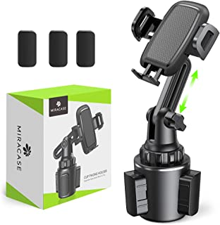 [2020 Upgraded] Cup Holder Phone Mount,Miracase Long Neck Never Shake Car Cup Phone Holder Cradle Car Mount for iPhone 11 Pro/XR/XS Max/X/8/7 Plus/6s/Samsung S10/Note 9/S8 Plus/S7,GPS etc