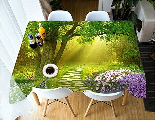 Polyester 3D Paysage naturel Tissus imprimés Nappe anti-poussière , 2 , o