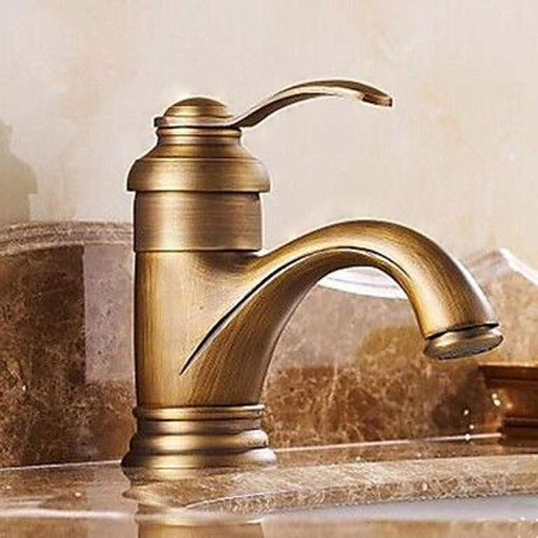 Bronze, Traditionell, überzug, Messingkupfer Heies Und Kaltes Wasser Waschbecken Wasserhahn Antiken Waschtischmischer