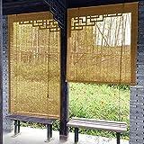 Estores Enrollables Persianas enrollables ligeras Para la puerta principal del pasillo del hotel del patio trasero de la casa de té, 55cm / 75cm / 95cm / 115cm / 135cm de ancho Parasoles de bambú