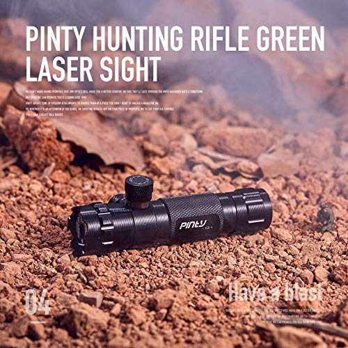 Pinty Hunting Rifle Green Laser Sight Dot Scope Adjustable with Mounts