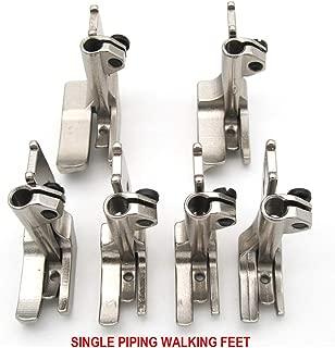 CKPSMS Brand - #KP-PWF6 6SET Smooth Bottom Piping Walking FEET for JUKI CONSEW Singer Sewing Machine (S32 1/8+3/16+1/4+5/16+3/8+1/2)