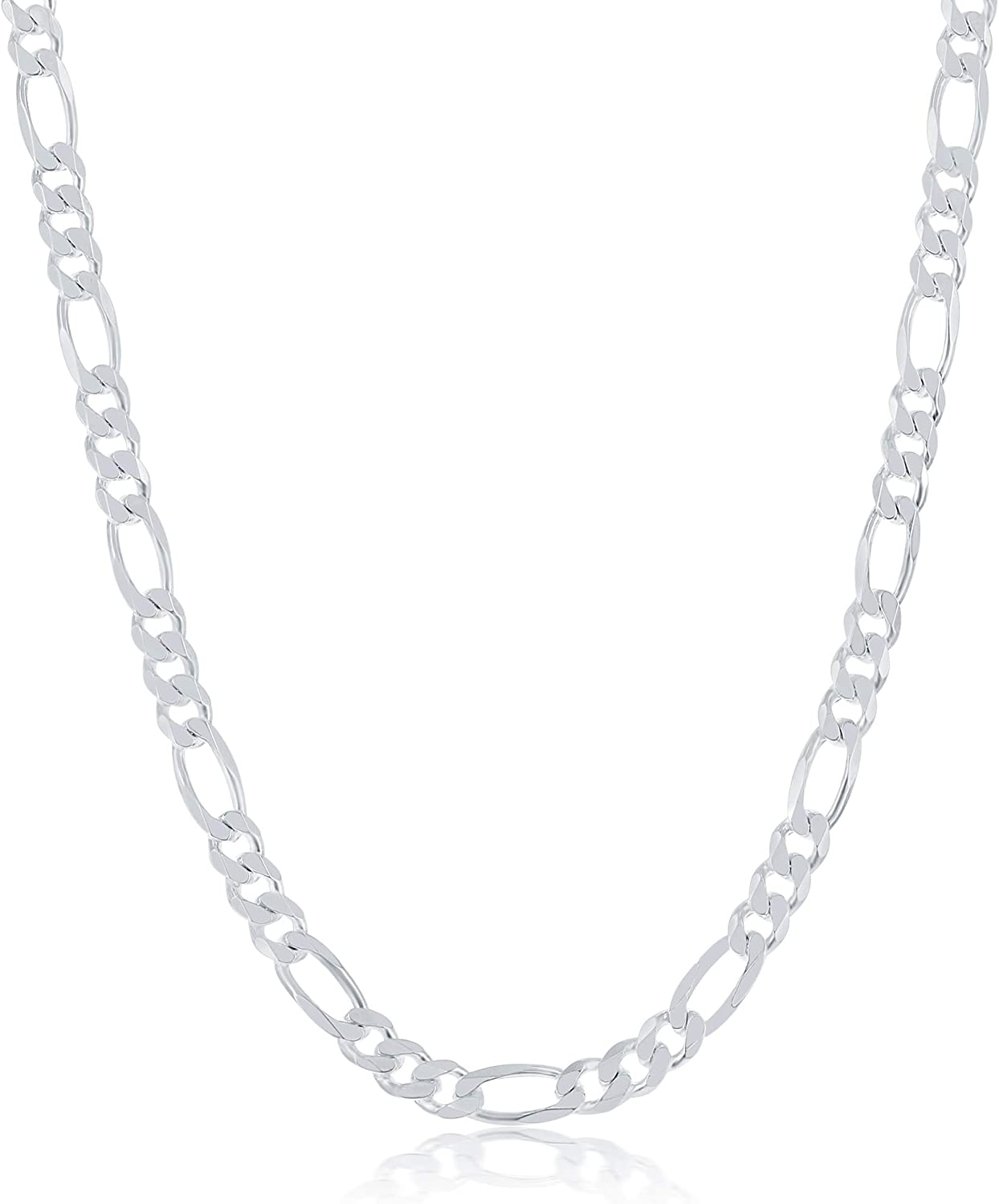 Year-end annual account NYC Sterling Silver Chain Max 61% OFF – f Figaro Premium Craftsmanship