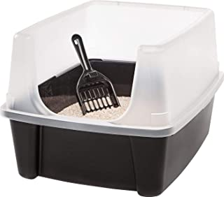 Clean Pet Cat Kitty Open Top Large Cats Litter Box with Shield and Scoop New! by