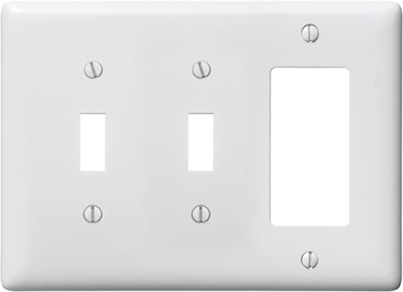 Bryant Electric Np226w 3 Gang 2 Toggle 1 Decorator Gfci Wall Plate White Switch Plates