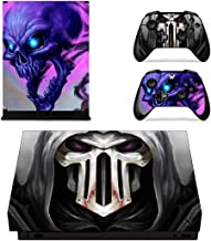Adventure Games - XBOX ONE X - Reaper, Purple Skull - Vinyl Console Skin Decal Sticker + 2 Controller Skins Set