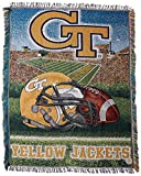 NORTHWEST NCAA Georgia Tech Yellow Jackets Woven Tapestry Throw Blanket, 48' x 60', Home Field Advantage