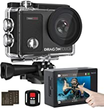 Dragon Touch 4K Action Camera Touch Screen 16MP Vision 3 Pro 100 feet Waterproof Camera..