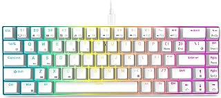 RK ROYAL KLUDGE RK68 (RK855) Wired 65% Mechanical Keyboard, RGB Backlit Ultra-Compact 60% Layout 68 Keys Gaming Keyboard, ...