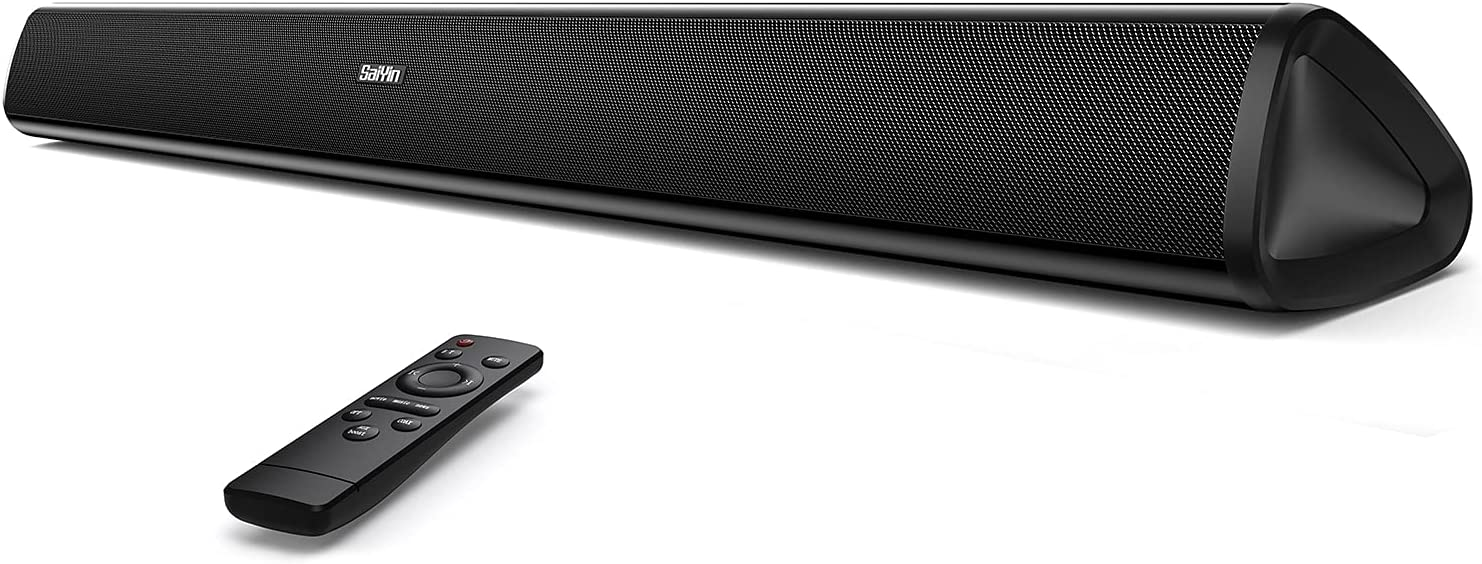 Sound Bars for TV, Soundbar 32-inch Home Theater Surround Sound System Bluetooth 5.0TV Stereo Speakers, Optical/Coaxial/RCA Connection