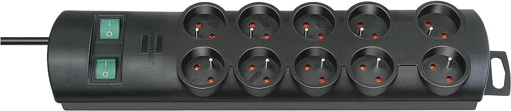 Brennenstuhl Primera-Line 10-gniazda listwa zasilająca (listwa z gniazdami z 2 przełącznikami dla 5 gniazdek każdy i kable...