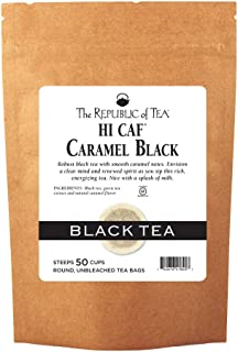 The Republic of Tea HiCAF Caramel Black Tea, 50 Tea Bags, Rich High-Caffeine Premium Black Tea