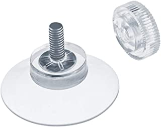 DIYexpert® 20 x ventosa Ø 30 mm con rosca M4 x 10 mm incluye tuercas moleteadas transparente – Fabricado en Alemania