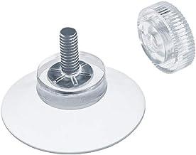 Fabricado en Alemania DIYexpert/® 8 ventosas de 50 mm de di/ámetro con Rosca M4 x 10 mm Incluye Tuercas moleteadas Transparentes