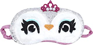 Cute Animal Sleeping Eye Mask Sequins Crowned Owl Blindfold Soft Sleep Aid Cover for Women Girls Kids