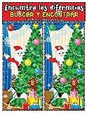 Encuentra las diferencias: Busca y Encontrar libro de actividades de navidad - Desafio juegos...