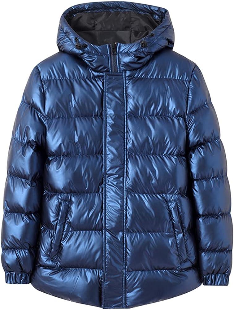 LSPAR Boys Winter Coats Kids Winter Jacket Warm Thick Heavyweight Windproof Outwear with Hood