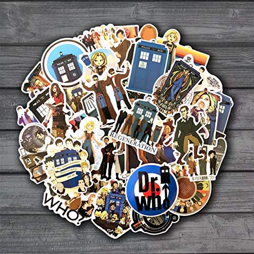 50Pcs Doctor Who Tardis Stickers Sets Anime Sticker Lot for Laptop Bicycle Phone Guitar Cartoon Stickers