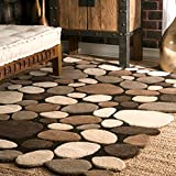 nuLOOM Pebbles Hand Tufted Wool Accent Rug, 2' x 3', Natural