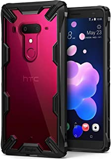 Ringke Fusion-X Compatible with HTC U12 Plus Case Ergonomic Transparent Military Drop Tested Defense Hard PC Back TPU Bumper Impact Resistant Shock Absorbent Cover for HTC U 12 Plus - Black