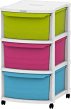 Cosmoplast Multipurpose 3 Drawer Storage Cabinet - Multi Color