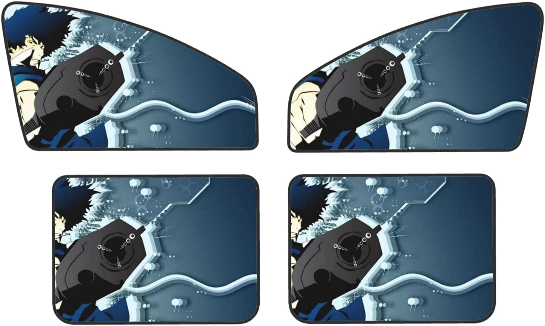 Cowboy Super sale period limited Bebop Car Sunshade Side Sun Very popular 4pcs Shade Window Univers