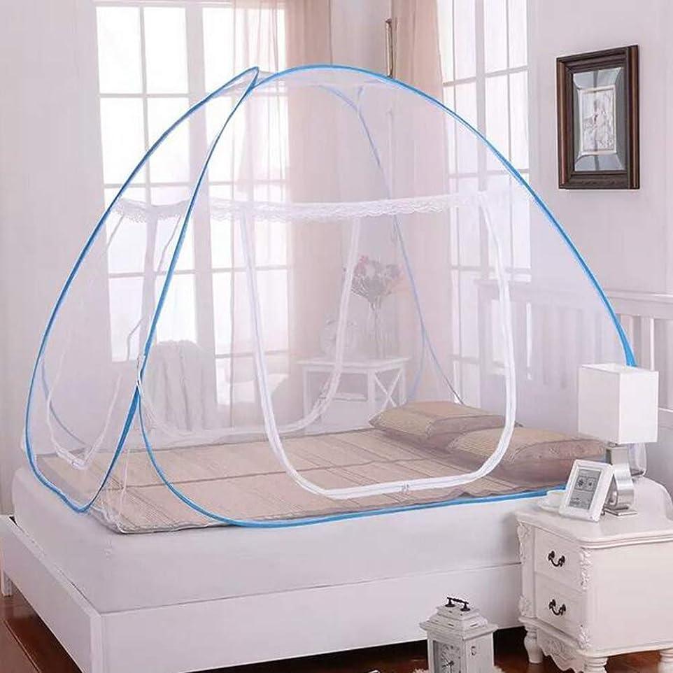 ベッド細菌紳士気取りの、きざな180 * 200 * 150cmポップアップMOSQUITO NETテント、折りたたみ式両開きドア蚊帳、携帯用旅行蚊帳、設置が簡単、保管袋、化学薬品なし