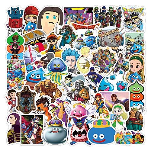 XIAMU Anime Dibujos Animados Dibujos Animados Brave Dragon Juego calcomanía Decorativa Equipaje Cuaderno Motocicleta monopatín Graffiti Pegatinas 50 Uds