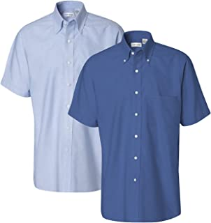 Men's Short-Sleeve Oxford Dress Shirt