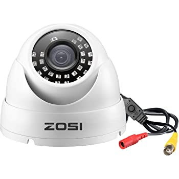 ZOSI 1080P Dome Security Cameras (Hybrid 4-in-1 HD-Cvi/Tvi/Ahd/960H Analog Cvbs), 1920TVL Day Night Weatherproof Indoor/Outdoor Dome Camera HD, Night Vision Up to 65Ft(20M)