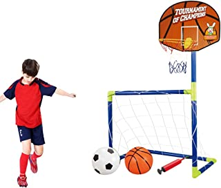 Mini canestro da Basket per Bambini con Supporto a Parete e Pompa Proglam