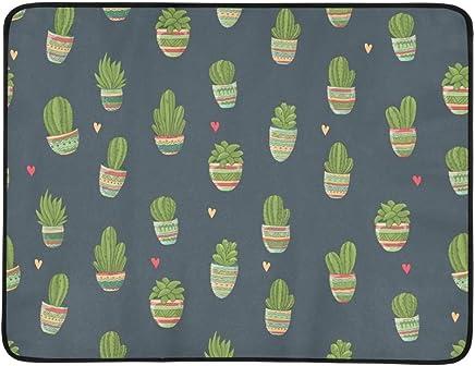 EIJODNL Cute Hand Drawn Cactus Portable and and and Foldable Blanket Mat 60x78 Inch Handy Mat for Camping Picnic Beach Indoor Outdoor Travel B07MYRVR2C | Ein Gleichgewicht zwischen Zähigkeit und Härte  6f01d6