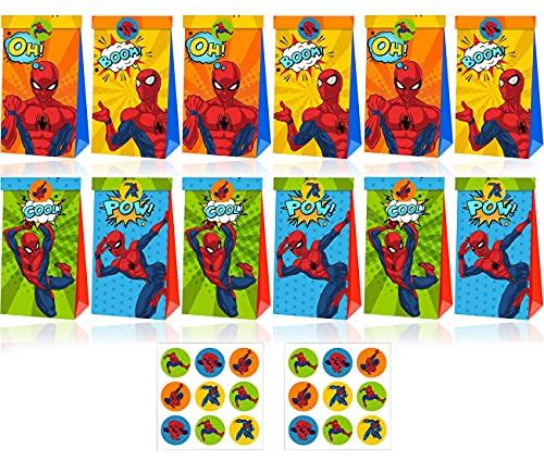 Tomicy Spider Man Bolsas de papel, coloridas bolsas de regalo, para envolver...