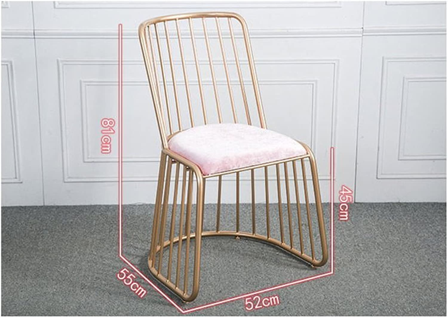 ZfgG Wrought Iron Backrest Chair, Simple and Modern Leisure Bar Table and Chair Restaurant Dining Chair 52cm45cm81cm,Applicable Bar Restaurant Counter
