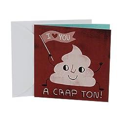 Hallmark Studio Ink Birthday Card or Anniversary Card(I Love You A Crap Ton)