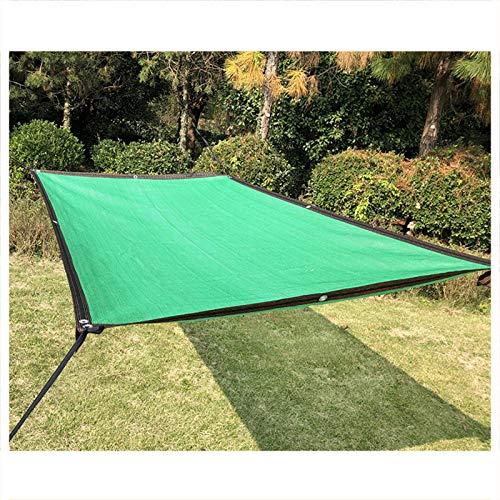 CAIJUN 90% Toldo Vela De Sombra, Malla Solar Sombra Bloqueador Solar Tela De Sombra Resistente A Los Rayos UV con Ojal para Al Aire Libre Jardín Césped Personalizable (Color : Green, Size : 4x4m)