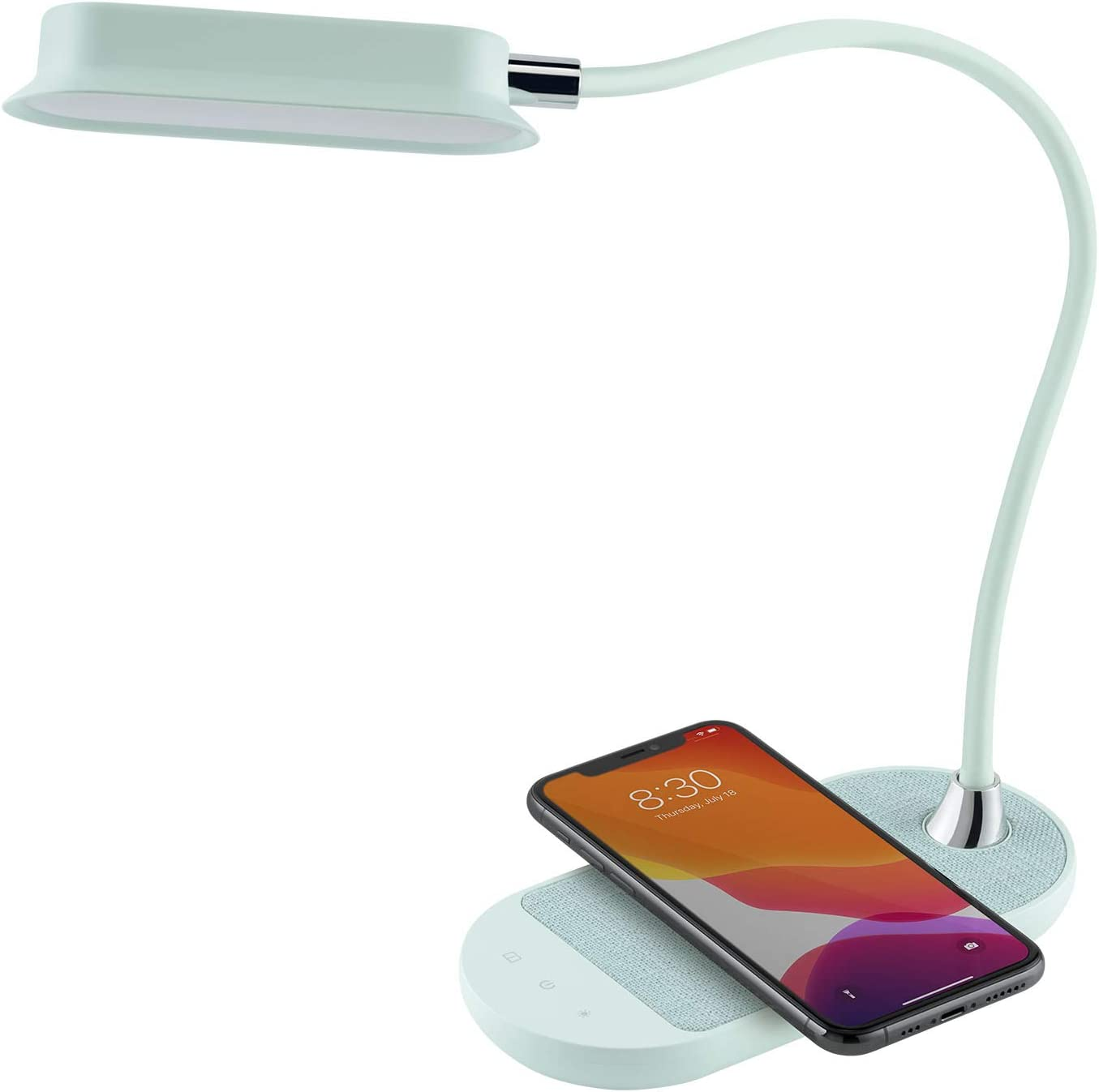 Momax LED Desk Lamp with Gooseneck Flexible Charger 55% Rapid rise OFF Wireless Qi