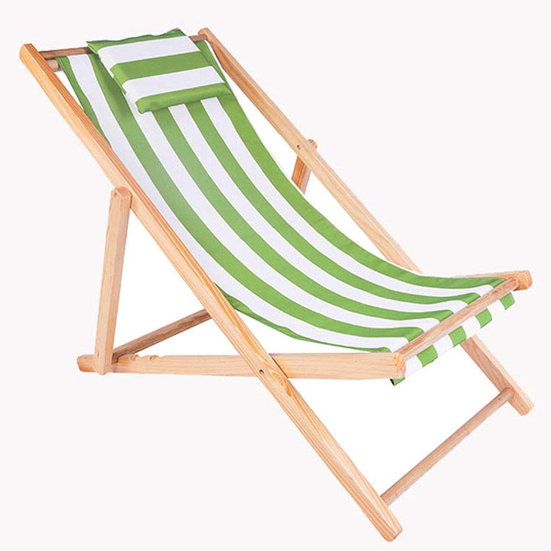 QRFDIANPatio Lounge Chair Balcony Recliner Lunch Break Folding Chair Siesta Chair Beach Casual Home Cool Chair Lazy Chair Gravity Chair (color   Green, Size   128  58  92cm)