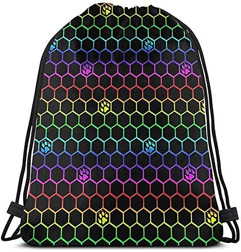 Brave Har Rainbow Dog Paws Unisex Home Gym Sack Bag Sport Mochila con cordón
