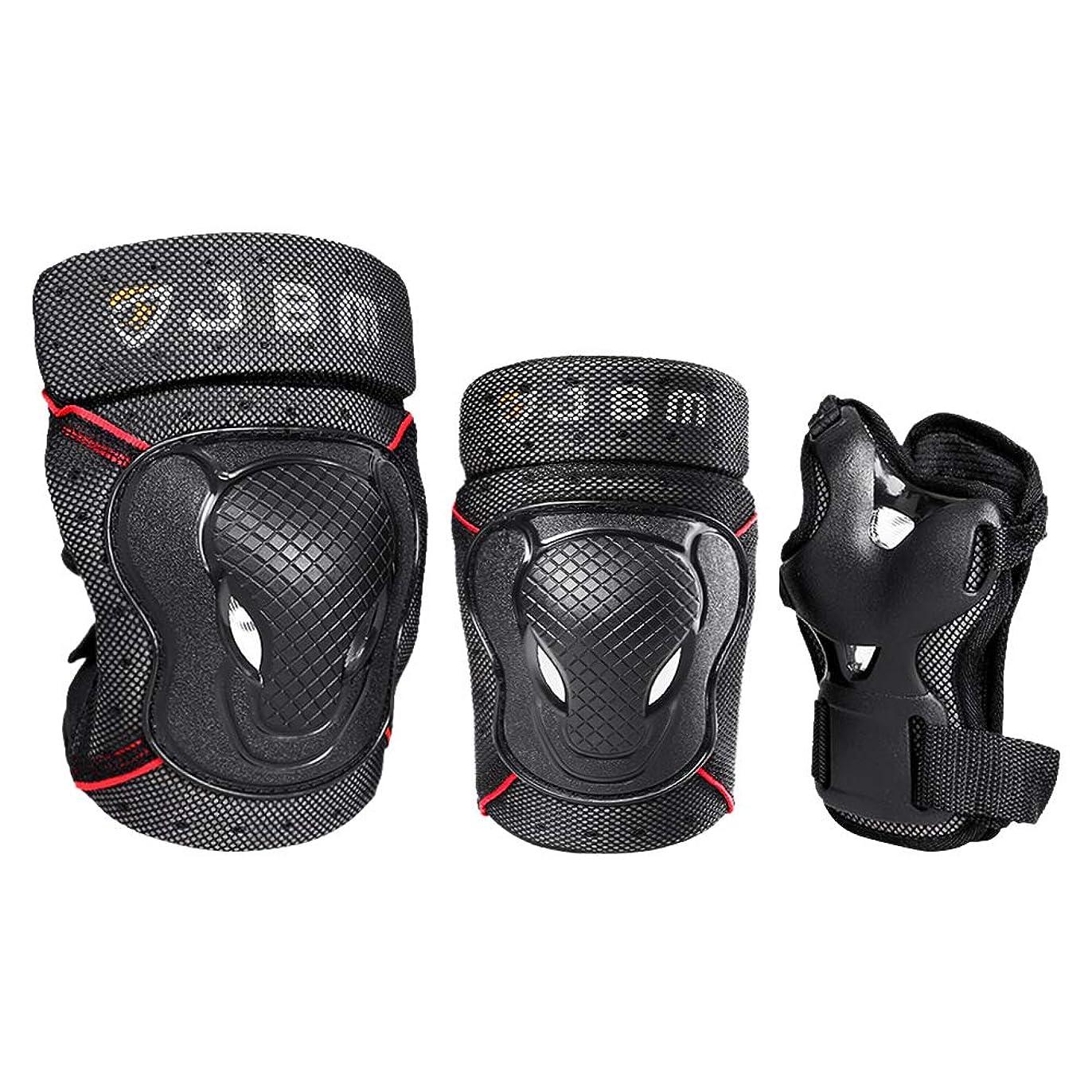 麻痺させる食堂プランターJBM BMXバイクの膝パッドと肘パッド(手首ガード付き)自転車、乗馬、サイクリング、マルチスポーツ用の保護装置セット安全保護:スクーター、スケートボード、自転車、インラインスケート