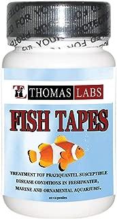 Thomas Labs Fish Tapes Praziquantel, 12 Capsules, 34 milligrams