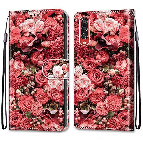 Nadoli Bunt Leder Hülle für Samsung Galaxy A70S,Cool Lustig Tier Blumen Schmetterling Entwurf Magnetverschluss Lanyard Flip Cover Brieftasche Schutzhülle mit Kartenfächern