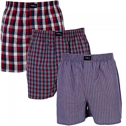 MG-1 3 er Pack Webboxer/Boxershorts Herren American Shorts Sparpaket Farbwahl, Grösse:M - 5-50, Farbe:Set 2