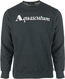 Aquascutum Box Logo Black Sweatshirt