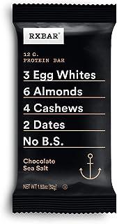 RXBAR, Chocolate Sea Salt, Protein Bar, 1.83 Ounce Bar, (Pack of 12) High Protein Snack, Gluten Free