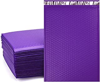 UCGOU 10.5x16 Inch Poly Bubble Mailer Purple Self Seal Padded Envelopes Waterproof and Tear-Proof Postal Bags Pack of 25