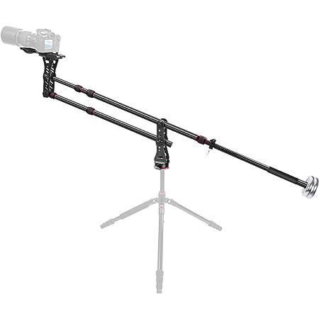 Neewer® - Gru con braccio per fotocamera - 177cm, in lega di alluminio, 360°C calotta sferica, contrappeso, piastra a rilascio rapido da 6 mme 9,5 mm, capacità di carico fino a 8kg