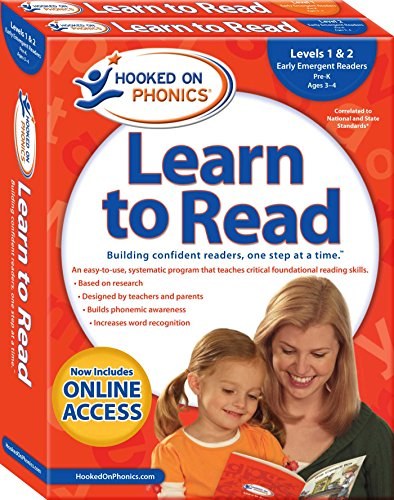 Hooked on Phonics Learn to Read - Levels 1&2 Complete: Early Emergent Readers (Pre-K | Ages 3-4) (1) (Learn to Read Complete Sets)